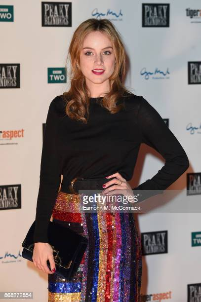 Actress Sophie Rundle attends the Birmingham Premiere of Peaky Blinders at cineworld on October 30 2017 in Birmingham England