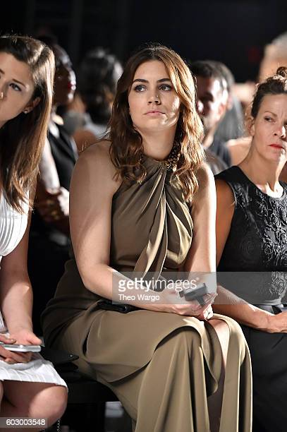 Actress Sophie Simmons attends the Carmen Marc Valvo Spring/Summer 2017 Fashion Show during New York Fashion Week at Pier 59 Studios on September 11...