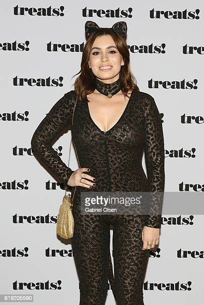 Actress Sophie Simmons attends Trick or treats The 6th Annual treats Magazine Halloween Party Sponsored by Absolut Elyx on October 29 2016 in Los...