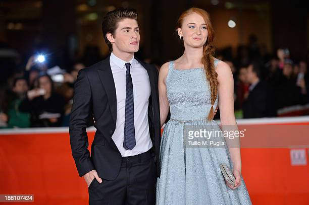 Actress Sophie Turner and actor Gregg Sulki attend the 'Another Me' Premiere during The 8th Rome Film Festival at Auditorium Parco Della Musica on...