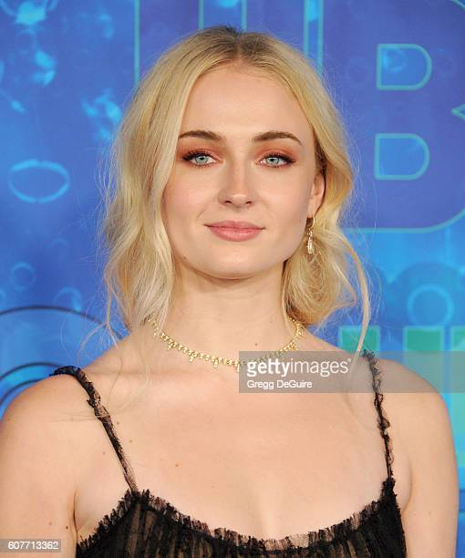 Actress Sophie Turner arrives at HBO's Post Emmy Awards Reception at The Plaza at the Pacific Design Center on September 18 2016 in Los Angeles...