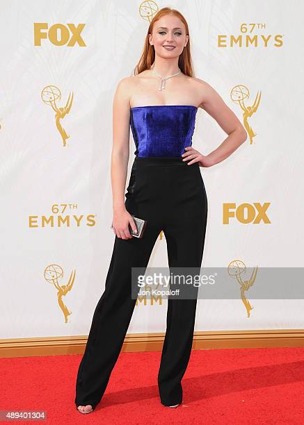 Actress Sophie Turner arrives at the 67th Annual Primetime Emmy Awards at Microsoft Theater on September 20 2015 in Los Angeles California