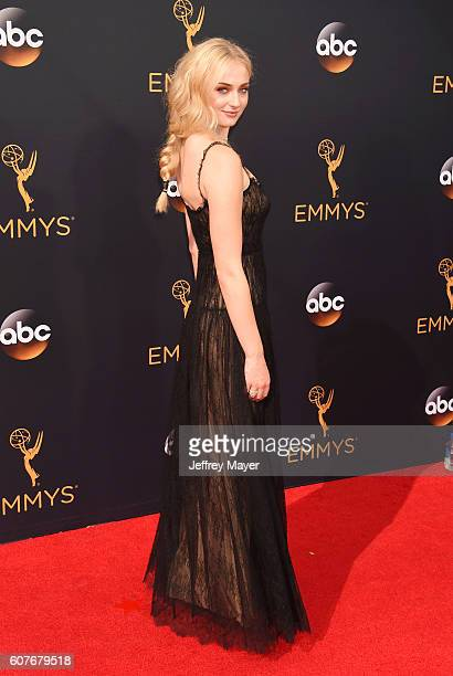 Actress Sophie Turner arrives at the 68th Annual Primetime Emmy Awards at Microsoft Theater on September 18 2016 in Los Angeles California
