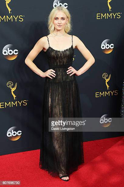Actress Sophie Turner arrives at the 68th Annual Primetime Emmy Awards at the Microsoft Theater on September 18 2016 in Los Angeles California