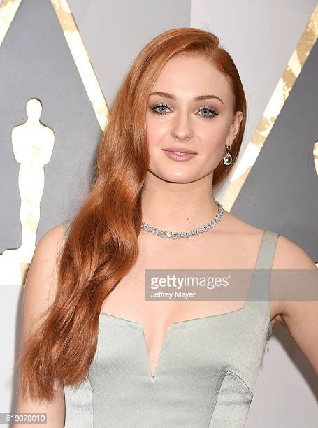 Actress Sophie Turner arrives at the 88th Annual Academy Awards at Hollywood Highland Center on February 28 2016 in Hollywood California
