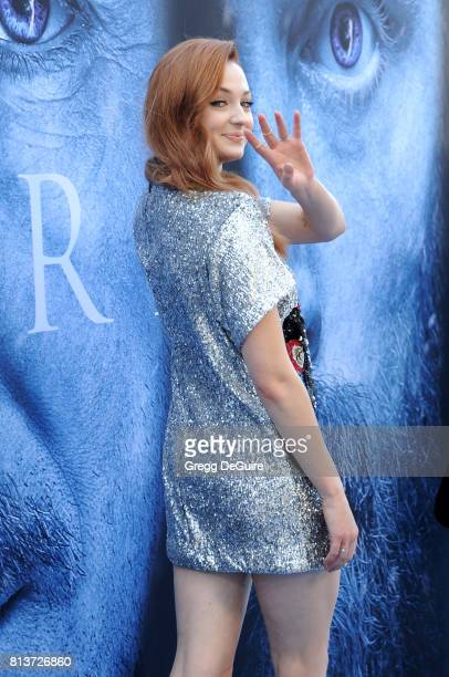 Actress Sophie Turner arrives at the premiere of HBO's 'Game Of Thrones' Season 7 at Walt Disney Concert Hall on July 12 2017 in Los Angeles...