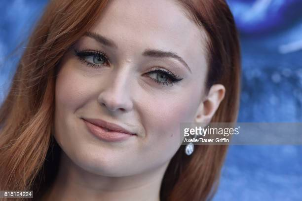 Actress Sophie Turner arrives at the premiere of HBO's 'Game Of Thrones' Season 7 at Walt Disney Concert Hall on July 12, 2017 in Los Angeles,...