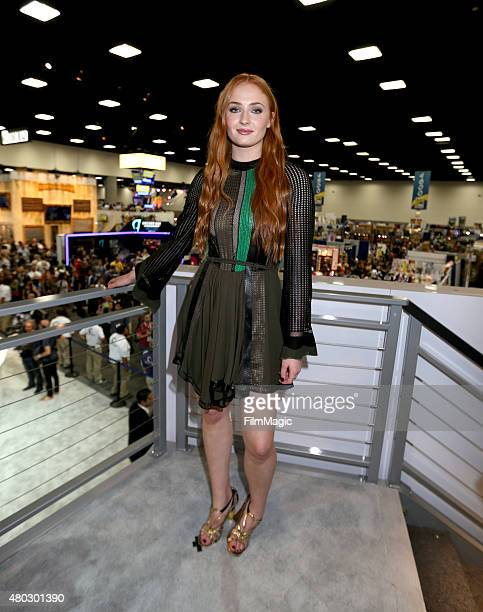 Actress Sophie Turner at the 'Game Of Thrones' autograph signing during ComicCon International 2015 at the San Diego Convention Center on July 10...