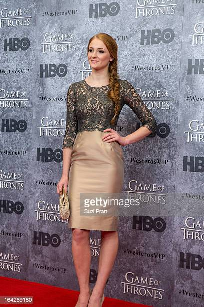 Actress Sophie Turner at the Game of Thrones season 3 premiere at Cinerama Theater on March 21 2013 in Seattle Washington