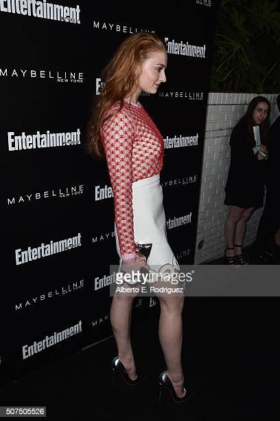Actress Sophie Turner attends Entertainment Weekly's celebration honoring THe Screen Actors Guild presented by Maybeline at Chateau Marmont on...