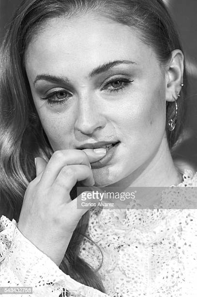 Actress Sophie Turner attends Game Of Thrones fans event at the Palafox cinema on June 28 2016 in Madrid Spain