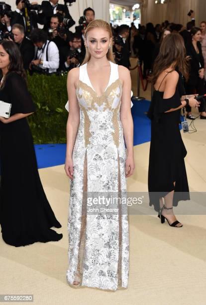 Actress Sophie Turner attends 'Rei Kawakubo/Comme des Garcons Art Of The InBetween' Costume Institute Gala at Metropolitan Museum of Art on May 1...