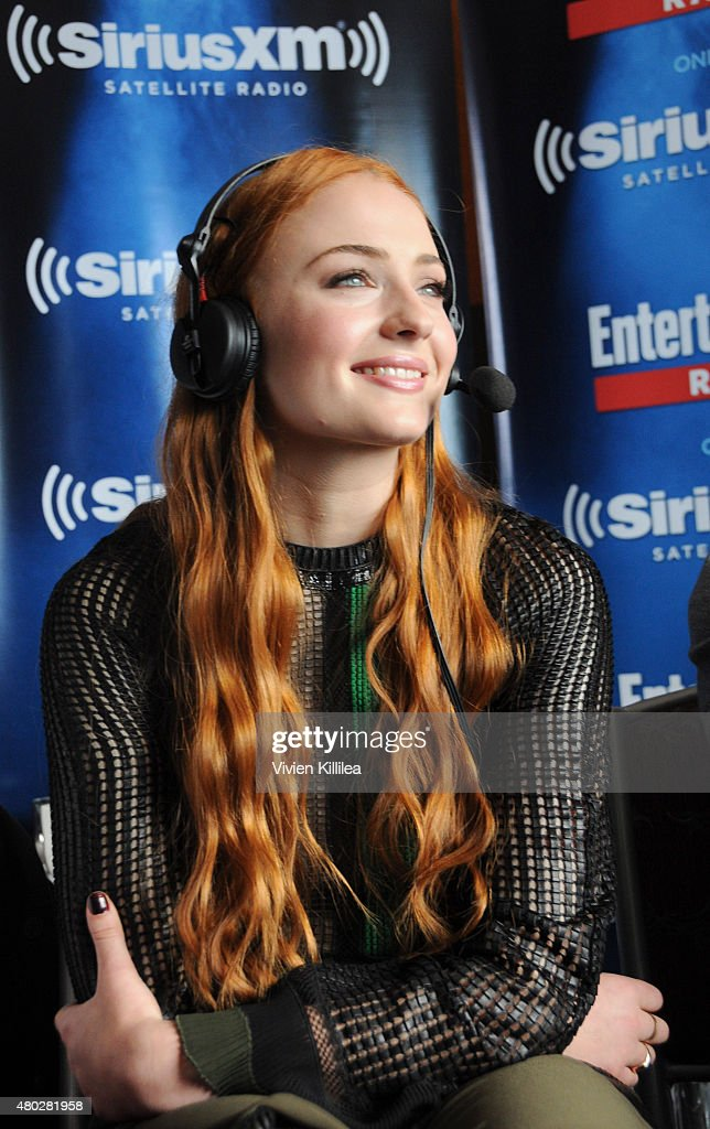 Actress Sophie Turner attends SiriusXM's Entertainment Weekly Radio Channel Broadcasts From Comic-Con 2015 at Hard Rock Hotel San Diego on July 10, 2015 in San Diego, California.
