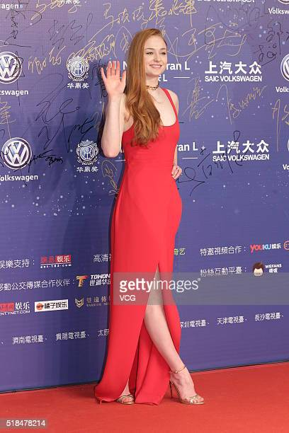 Actress Sophie Turner attends the 18th Huading Awards at Studio City on March 31 2016 in Macau Macau