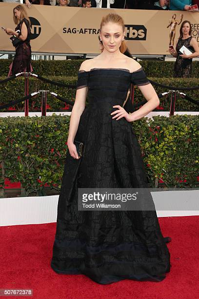 Actress Sophie Turner attends the 22nd Annual Screen Actors Guild Awards at The Shrine Auditorium on January 30 2016 in Los Angeles California