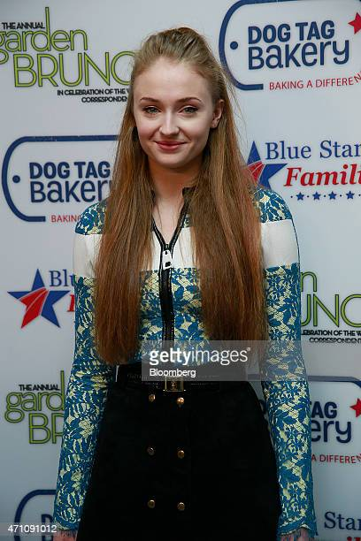 Actress Sophie Turner attends the 22nd Annual White House Correspondents' Garden Brunch in Washington DC US on Saturday April 25 2015 This year's...