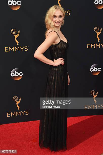 Actress Sophie Turner attends the 68th Annual Primetime Emmy Awards at Microsoft Theater on September 18 2016 in Los Angeles California