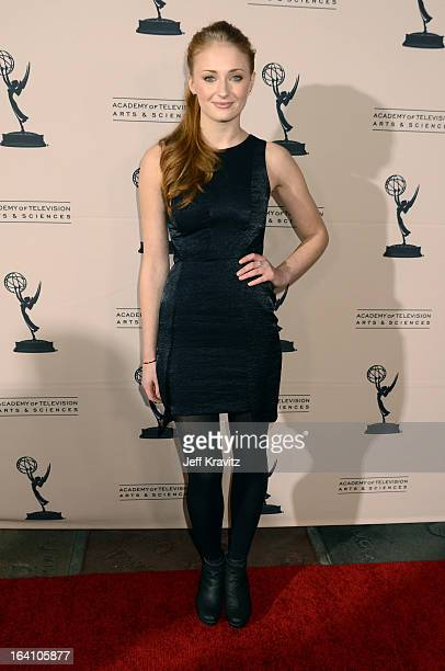 Actress Sophie Turner attends the Academy of Television Arts Sciences an evening with HBO's Game Of Thrones at TCL Chinese Theatre on March 19 2013...