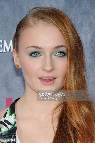 Actress Sophie Turner attends the Game Of Thrones Season 4 New York premiere at Avery Fisher Hall Lincoln Center on March 18 2014 in New York City