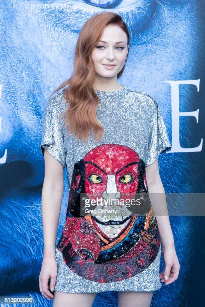 Actress Sophie Turner attends the Premiere Of HBO's Game Of Thrones Season 7 at Walt Disney Concert Hall on July 12 2017 in Los Angeles California