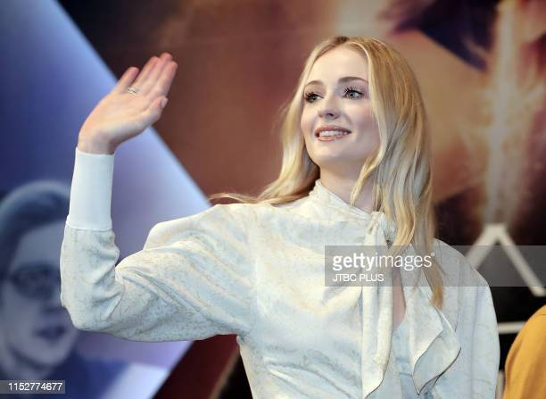 Actress Sophie Turner attends the press conference for 'X-Men : Dark Phoenix' South Korea premiere on May 27, 2019 in Seoul, South Korea.