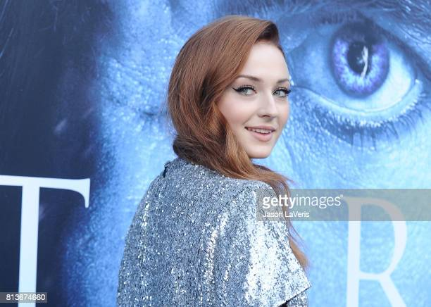 """Actress Sophie Turner attends the season 7 premiere of """"Game Of Thrones"""" at Walt Disney Concert Hall on July 12, 2017 in Los Angeles, California."""