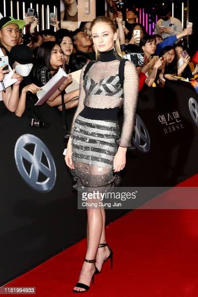 Actress Sophie Turner attends the South Korean premiere of XMen Dark Phoenix on May 27 2019 in Seoul South Korea