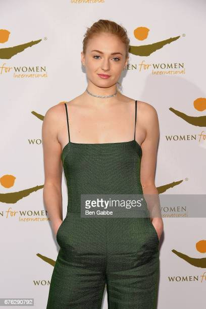 Actress Sophie Turner attends The Women For Women International's Luncheon at 583 Park Avenue on May 2 2017 in New York City
