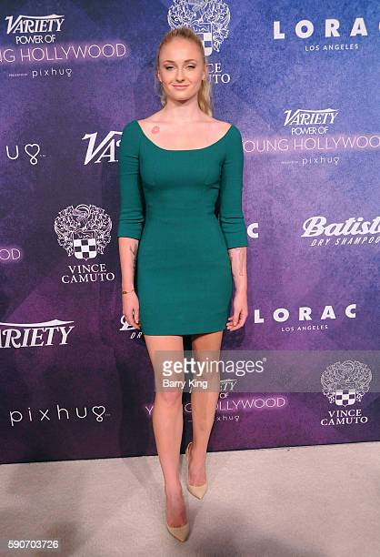 Actress Sophie Turner attends Variety's Power of Young Hollywood event presented by Pixhug with Platinum Sponsor Vince Camuto at NeueHouse Hollywood...