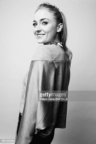 Actress Sophie Turner poses for a portraits at the BAFTA Tea Party at Four Seasons Hotel Los Angeles at Beverly Hills on January 7 2017 in Los...