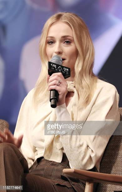 Actress Sophie Turner speaks during the press conference for 'X-Men : Dark Phoenix' South Korea premier on May 27, 2019 in Seoul, South Korea.