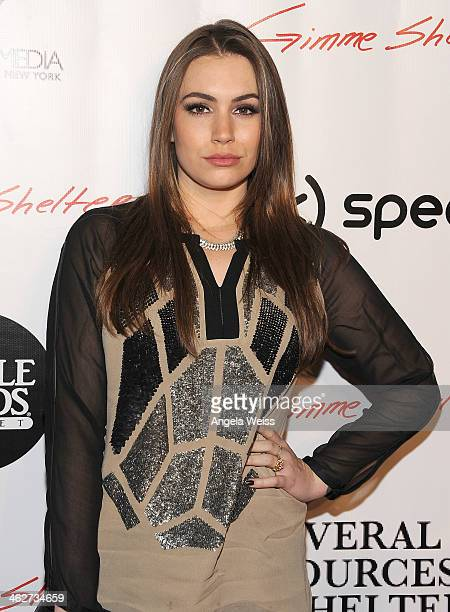 Actress Sophie TweedSimmons arrives at the screening of Roadside Attractions Day 28 Films Gimme Shelter at the Egyptian Theatre on January 14 2014 in...
