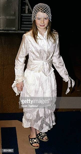 Actress Sophie Vavasseur arrives at the premiere of Evelyn March 17 2003 in London United Kingdom