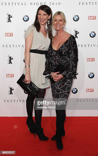 Actress Sophie Wepper and actress Anja Schuete arrive to the Festival Night 2010 at the Palais Am Festungsgraben on February 12 2010 in Berlin Germany