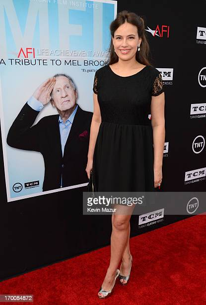 Actress Sophie Winkleman attends AFI's 41st Life Achievement Award Tribute to Mel Brooks at Dolby Theatre on June 6 2013 in Hollywood California...