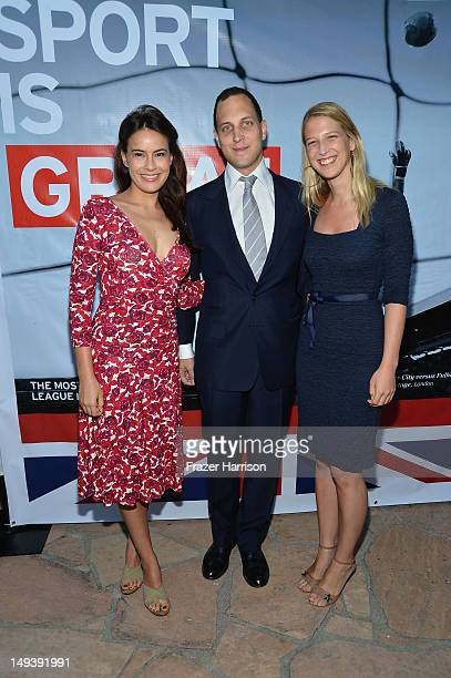 Actress Sophie Winkleman Lord Fredrick Windsor and Lady Gabriella Windsor attend the British Consulate Olympics 2012 Opening Ceremonies reception...
