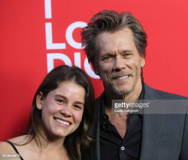 Actress Sosie Bacon and father actor Kevin Bacon attend the premiere of Amazon's 'I Love Dick' at the Linwood Dunn Theater on April 20 2017 in Los...