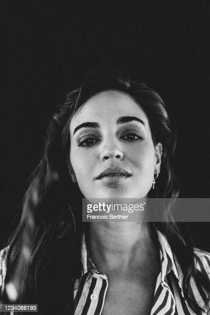 Actress Souheila Yacoub poses for a portrait during the 74th Cannes International Film Festival, on July 15, 2021 in Cannes, France.