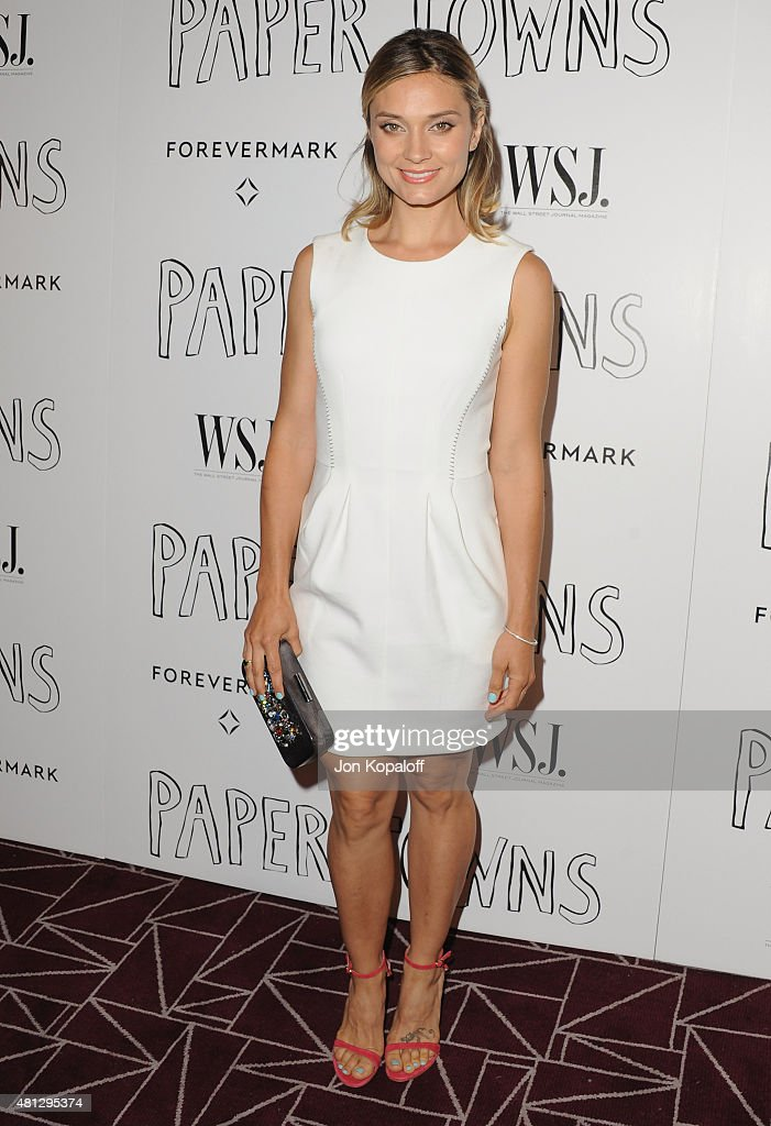 Actress Spencer Grammer arrives at the Screening Of 20th Century Fox's 'Paper Towns' at The London West Hollywood on July 18, 2015 in West Hollywood, California.