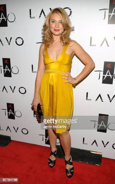 Actress Spencer Grammer attends the TAO and LAVO anniversary weekend held at TAO in the Venetian Resort Hotel Casino on October 3 2009 in Las Vegas...