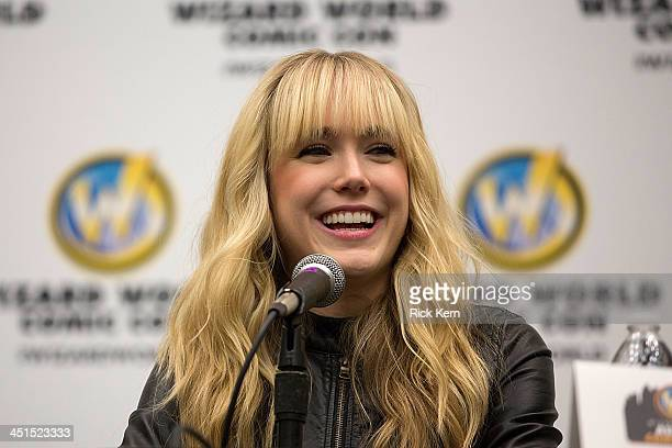 Actress Spencer Locke attends day one of the Wizard World Austin Comic Con at the Austin Convention Center on November 22 2013 in Austin Texas