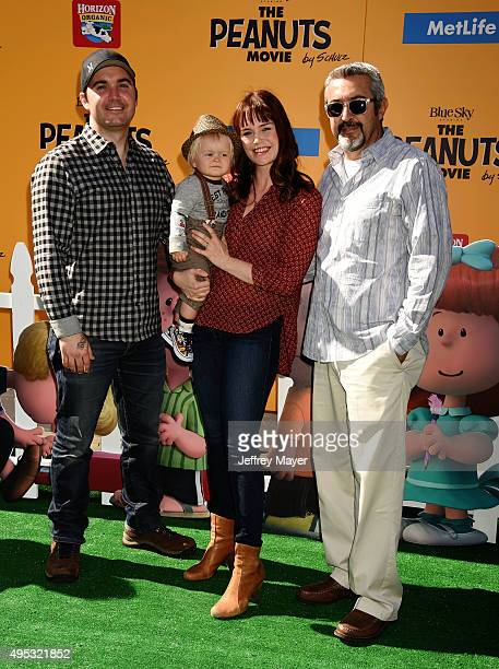Actress Sprague Grayden and family attend the premiere of 20th Century Fox's 'The Peanuts Movie' at the Regency Village Theatre on November 1 2015 in...