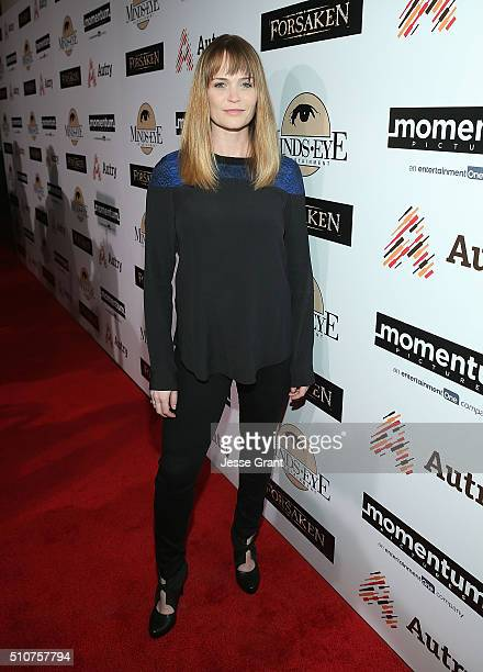 Actress Sprague Grayden attends the Momentum Pictures' screening of 'Forsaken' at the Autry Museum of the American West on February 16 2016 in Los...