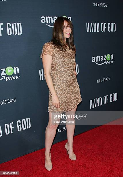 Actress Sprague Grayden attends the premiere of Amazon's series 'Hand Of God' at Ace Theater Downtown LA on August 19 2015 in Los Angeles California