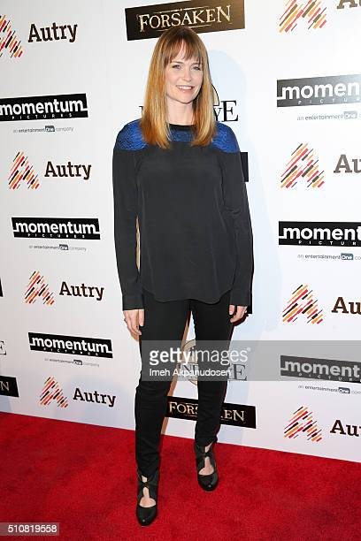 Actress Sprague Grayden attends the screening of Momentum Pictures' 'Forsaken' at Autry Museum of the American West on February 16 2016 in Los...