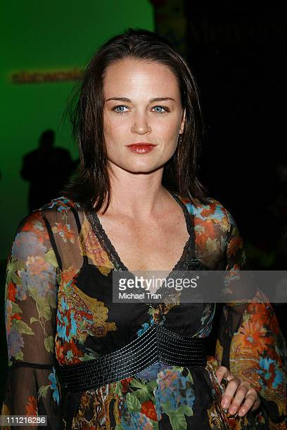 Actress Sprague Grayden frontrow and backstage at Sue Wong Spring 2007 collection during Mercedes Benz Fashion Week Spring 2007 on October 14 2007 in...