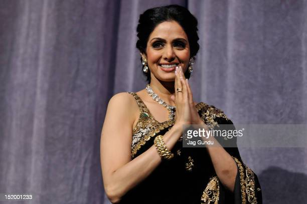 Actress Sridevi Kapoor attends the 'English Vinglish' premiere during the 2012 Toronto International Film Festival at Roy Thomson Hall on September...
