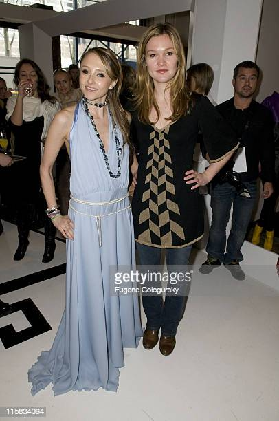 Actress Stacey Bendet and Julia Stiles attend alice olivia Presentation during MercedesBenz Fashion Week Fall 2008 at alice olivia on February 7 2008...