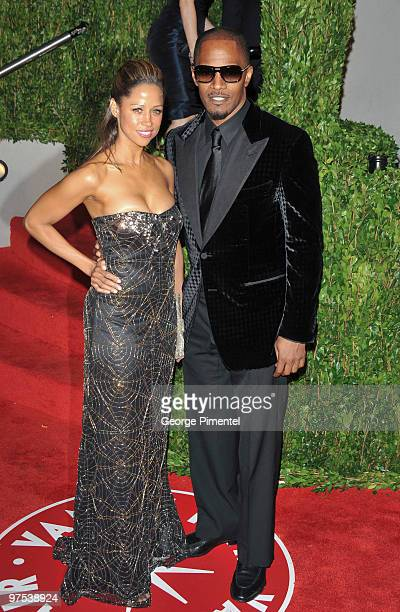 Actress Stacey Dash and Jamie Foxx arrive at the 2010 Vanity Fair Oscar Party hosted by Graydon Carter held at Sunset Tower on March 7 2010 in West...