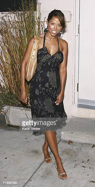 Actress Stacey Dash arrives at the premiere of 'King Lear' at the Electrtic Lodge on July 28 2006 in Venice California